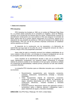 PPG 1. Datos de la empresa: PPG Industries PPG Industries fue