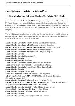 Juan Salvador Gaviota Un Relato pdf ebooks
