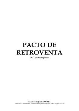 PACTO DE RETROVENTA