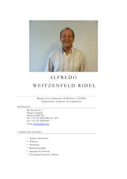 ALFREDO WEITZENFELD RIDEL