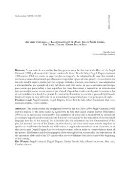 En ese artículo se estudian las divergencias entre la obra teatral de
