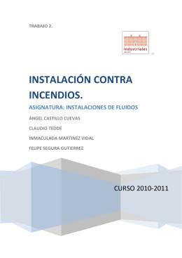instalación contra incendios. - Universidad Politécnica de Cartagena