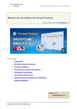 Manual de uso básico de Format Factory