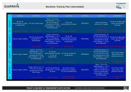 Marathon Training Plan Intermediate