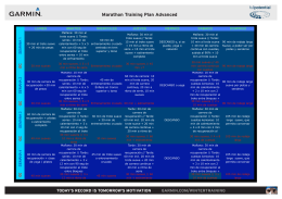 Marathon Training Plan Advanced