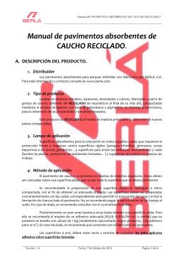 Manual de pavimentos absorbentes de CAUCHO RECICLADO