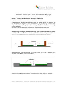 Instalación de Losetas de Caucho Antideslizante