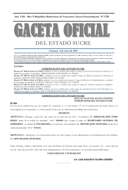 GACETAOFICIAL DEL ESTADO SUCRE