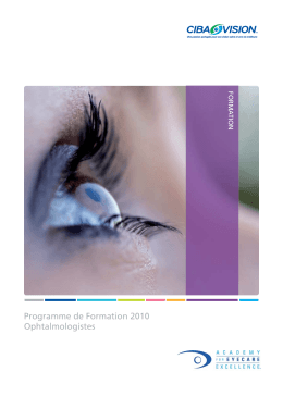 Programme 2010 Ciba Vision
