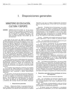 Orden ECD/ 3310/2002 - Consejo Superior de Deportes