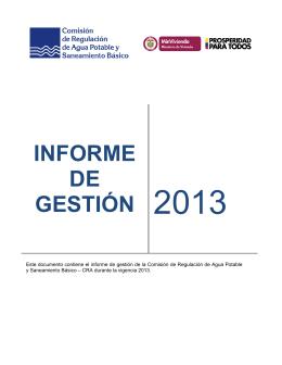 Descargar el informe Informe de Gestión 2013Tipo de archivo