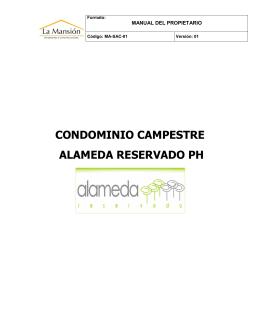 Manual del Propietario - Alameda Reservado