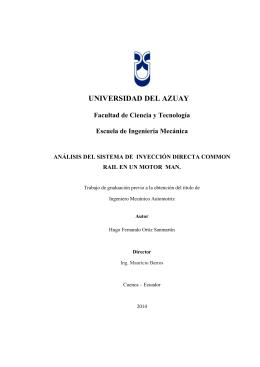 UNIVERSIDAD DEL AZUAY Facultad de Ciencia y Tecnología