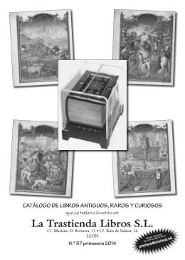 Descárguese catálogo 57 de Librería La Trastienda