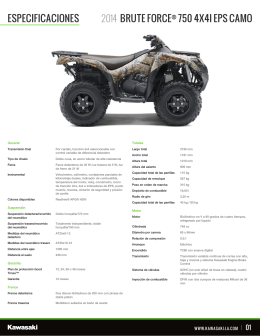 especificaciones brute force® 750 4x4i eps camo 2014
