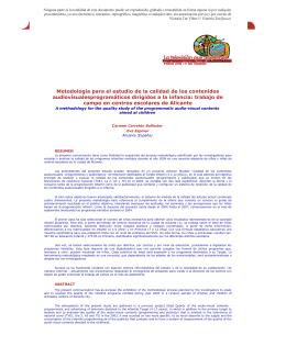 Metodología para el estudio de la calidad de los contenidos