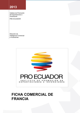 FICHA COMERCIAL DE FRANCIA