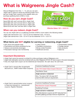 What is Walgreens Jingle Cash?