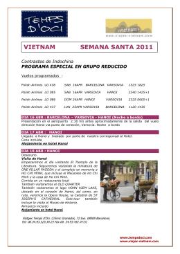 VIETNAM SEMANA SANTA 2011