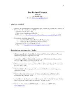 Dr. José Enrique Eizayaga - Departamento de Homeopatía de la