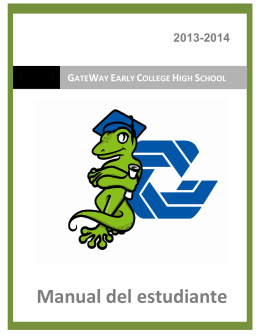 Manual del estudiante - GateWay Community College