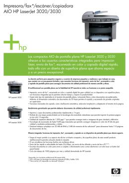 Impresora/fax*/escáner/copiadora AIO HP LaserJet 3020/3030