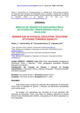 BRECHA DE GÉNERO EN EDUCACIÓN FÍSICA: ACTITUDES DEL