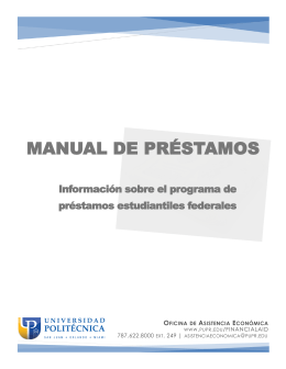 MANUAL DE PRÉSTAMOS