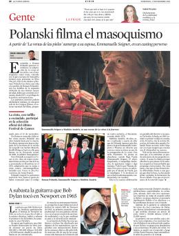 Polanski filma el masoquismo