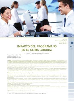 IMPACTO DEL PROGRAMA 5S EN EL CLIMA LABORAL