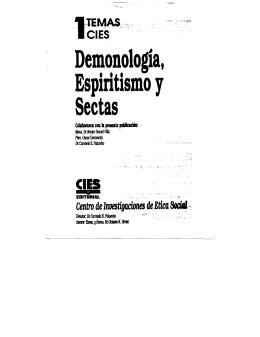 Temas 1: Demonología, Espiritismo y Sectas
