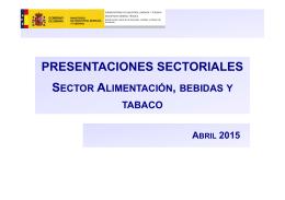 Alimentación, bebidas y tabaco - Ministerio de Industria, Energía y