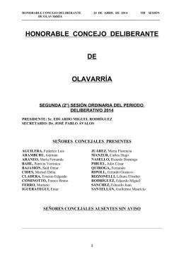 EN LA CIUDAD DE OLAVARRÍA, PROVINCIA DE BUENOS AIRES