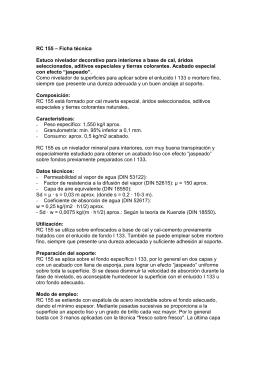 RC 155 – Ficha técnica Estuco nivelador decorativo para interiores