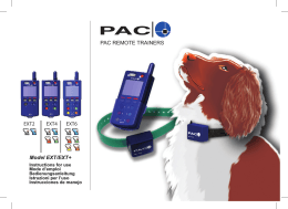 PAC REMOTE TRAINERS EXT6 EXT4 EXT2