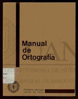 Manual de ortografía - Universidad Autónoma de Nuevo León