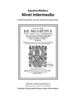 Intermediate Spanish - Fall 2014 Syllabus