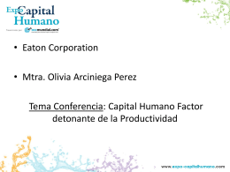 Capital Humano Factor detonante de la Productividad