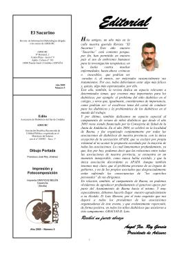 El Sacarino - Asociacion de Diabéticos del Sur de Córdoba