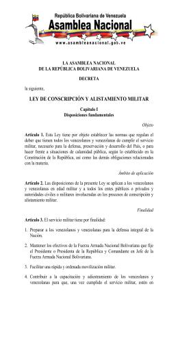 Ley de Conscripción y Alistamiento Militar