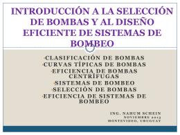 introducción a la selección de bombas y al diseño