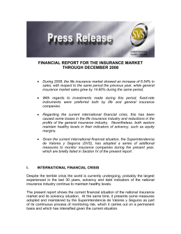 financial report for the insurance market through december 2008