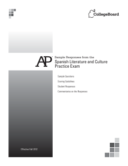 Spanish Literature and Culture Practice Exam