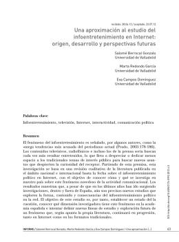 Una aproximación al estudio del infoentretenimiento en Internet