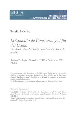 Concilio de Constanza - Biblioteca Digital