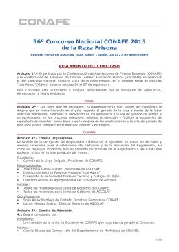 36º Concurso Nacional CONAFE 2015 de la Raza Frisona