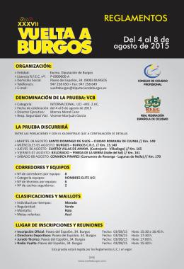 REGLAMENTOS - Vuelta Burgos