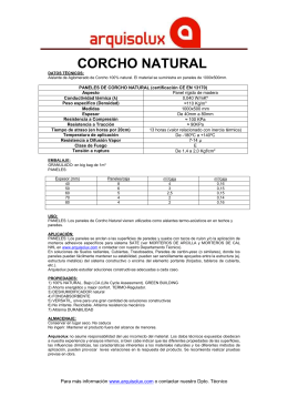 Descarga la Ficha CORCHO NATURAL