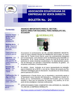 BOLETÍN No. 20