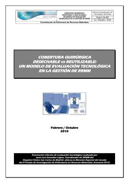 COBERTURA QUIRÚRGICA DESECHABLE vs REUTILIZABLE: UN